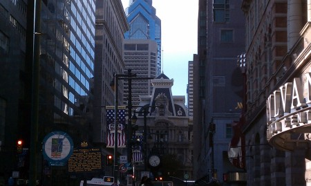 a shot of downtown Philly from the steps right on Market street.  I always love the site of the Philly skyline.  It will always remind me of growing up here in South Jersey, watching the skyline morph over the years.