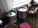 we did NOT steal these kegs and bring them to our room.