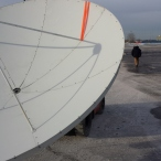 we had to move a satellite dish