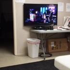 Watching the Grammys alone during the security sweep on Sunday night.