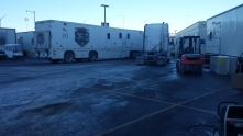 NFL Network arrived last night, with their four trailers or so.