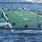 Killed some time finding our broadcast booths being built on the 200 level of the stadium.