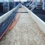 These are just a few of the cable runs...