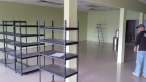 Fresh paint, fresh floors, looks empty.