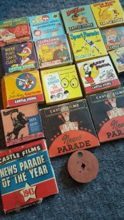 16 and 35 News reels and cartoons.