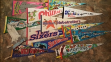 These are some of my favorite pennants from my collection close to a hundred or so. The Space Shuttle form Kennedy Space Center is my all time favorite. And yes, I've been to all of these things.